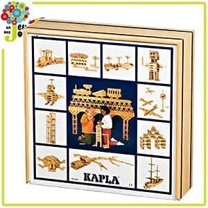 Kapla boîte 100 pièces Jeu de construction Planchette naturel Enfant 4 ans +.