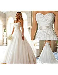 Amazon.it  Vestiti Da Sposa Eleganti - Abbigliamento specifico ... c07db0f9e94