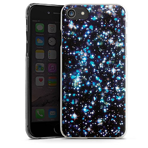Apple iPhone X Silikon Hülle Case Schutzhülle Sterne Glitzer Muster Hard Case transparent