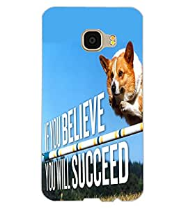 ColourCraft Inspirational Quote Design Back Case Cover for SAMSUNG GALAXY C5