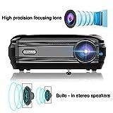 Elepawl 720 P LCD Beamer Videoprojektor 3200 LM Multimedia Heimkino Projektor HDMI VGA USB für Heimkino Laptop TV Spiel Video
