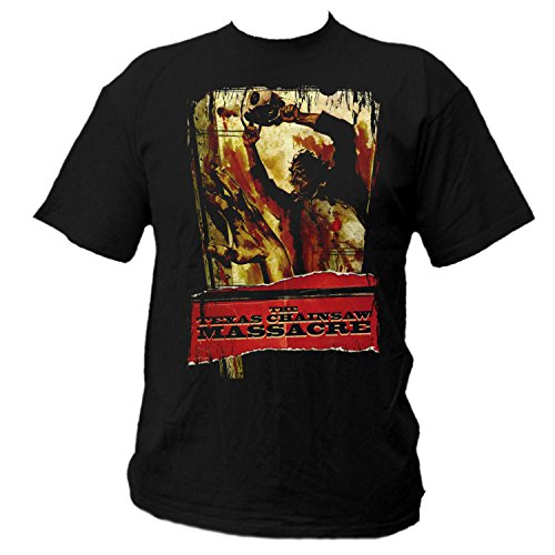 Texas T-shirt Chainsaw (Texas Chainsaw Massacre Shirt (M))