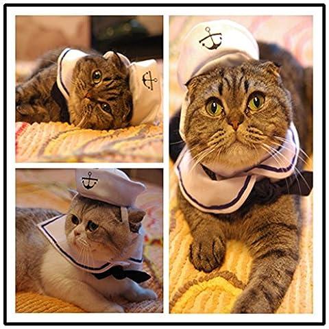 Kailian ® Sailor réglable Costume Hat & Marine Cat Small Dog Puppy Cosplay (Sailor)
