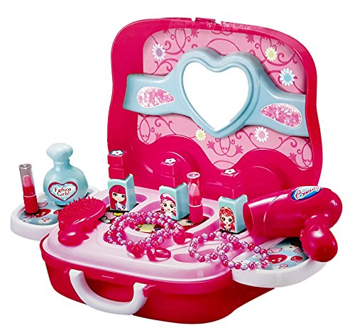 Toyshine Carry Along Beauty Set Toy with Briefcase and Accessories (Pink)