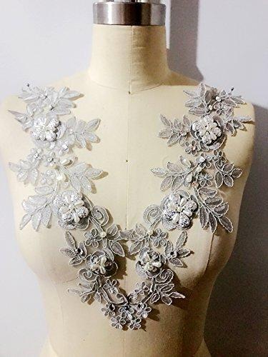 Complemento brillantes vestido encaje floral multicolor
