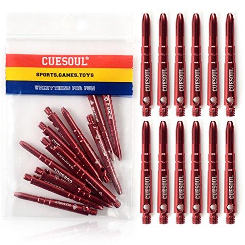 cuesoul-diamond-2ba-alluminio-dart-alberi-46mm-set-di-12-rosso