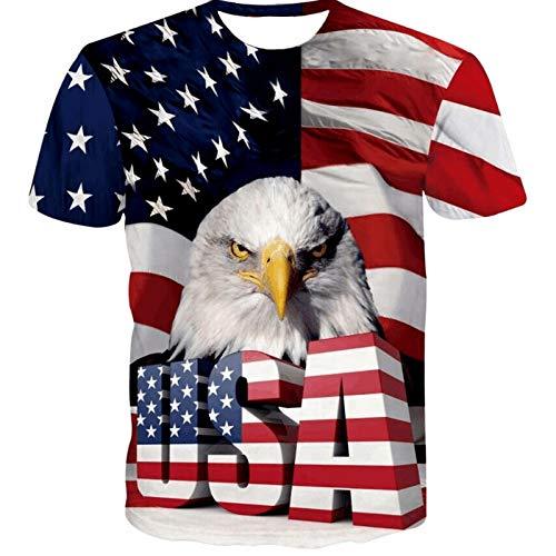 Männer Kompressionshemd Männer Casual American Eagle Atmungsaktiv Schnelltrocknend Bedruckt Kurzarm, S American Eagle Sweatshirt