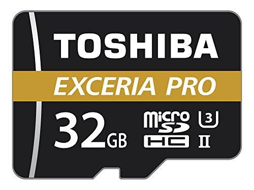 Toshiba THN-M501G0320E7 32 GB M501 Exceria Pro MicroSD-Karte mit Adapter (Micro-sd-32gb Toshiba)