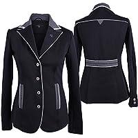 QHP Chaqueta de mujer Competición Jacket Olivia Adult elegante Detalles, color Negro, tamaño 42
