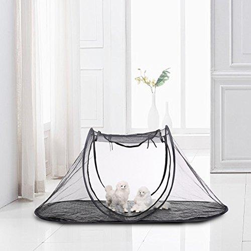 Pet Camping Zelt Laufgitter Käfig klein Tier Indoor Outdoor atmungsaktiv tragbar mit Tragetasche Schrankkorb Aufbewahrung Katze Hund Reisen -