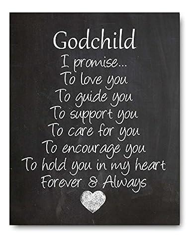 Godchild Nursery Art Print, Perfect Christening/Baptism Gift for Godson / Goddaughter