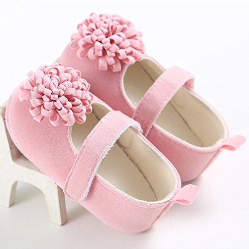 Baby Prinzessin erste Wanderer Schuhe Säugling Blumenschuhe Rosa