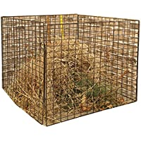 XINGLIEU Gartenkomposter eckig Gitter 100 x 100 x 70 cm Komposteimer Material Komposte pulverbeschichteter Stahl Aufbewahren & Ordnen