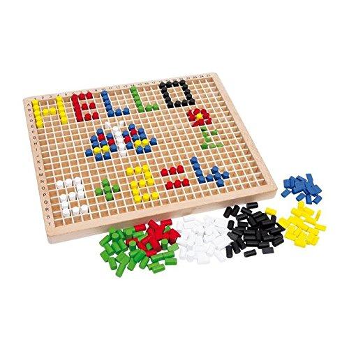 Steckbox KREATIV Steckspiel Legespiel Steckspiel Mosaik Holzspielzeug Logik 3413