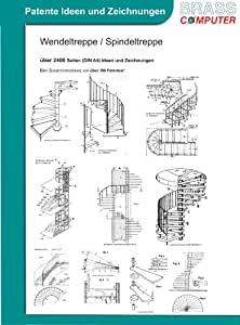 Wendeltreppe / Spindeltreppe, ca. 2400 Seiten (DIN A4) Ideen und Zeichnungen