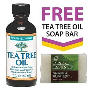 100% Australian Tea Tree Oil + FREE Tea Tree Oil Soap Bar