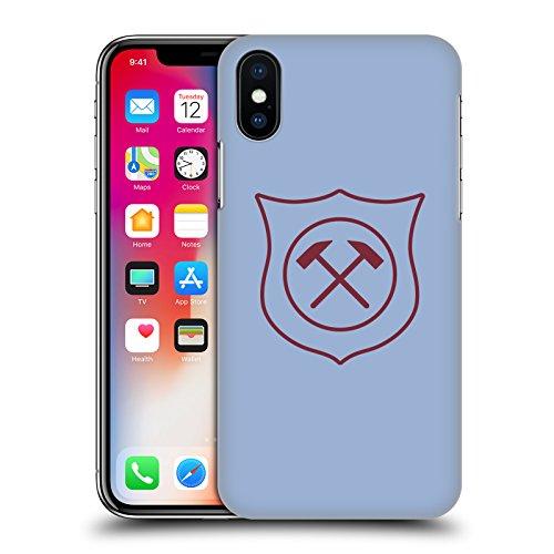 Ufficiale West Ham United FC Casa 2017/18 Kit Crest Cover Retro Rigida per Apple iPhone X Terzo