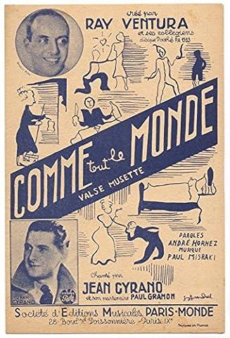 PARTITION COMME TOUT LE MONDE - PAROLES ANDRE HORNEZ -
