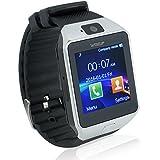 Wiseup Bluetooth Smart Uhren Handys mit GSM SIM Karten Slot und Pedometer Verlorene Funktion f�r Android Samsung Handy