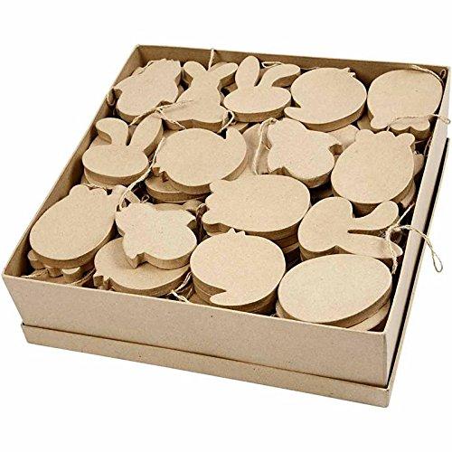 Creativ Pappmache Ostern ornaments-114Display Box, Papier, braun, 27x 2,5x 21cm