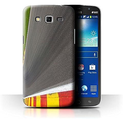 Carcasa/Funda STUFF4 dura para el Samsung Galaxy Mega 5.8 / serie: Pista Carreras Foto - Asfalto/Tarmac
