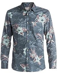 Chemise à manches longues Quiksilver Parrot Jungle Bleu Fonce