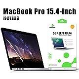 LENTION HD Protecteur d'écran Anti-rayures pour MacBook Pro (Retina, 15 pouces, mi-2012 à mi-2015) Modèle A1398, Film de Protection HD avec Un revêtement hydrophobe et oléophobe