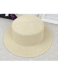 FANGSHAI Señoras Salvajes de la Manera Sombrero de Paja Sombrero de Copa  Plana Sombrero de Moda 938114e198e