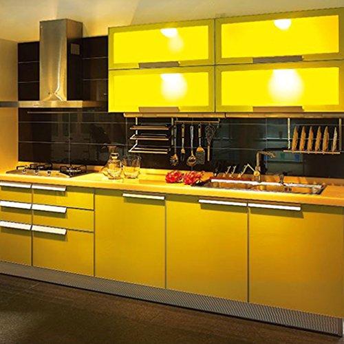 kinlo selbstklebende folie k che gelb 61x500cm tapeten k che aus hochwertigem pvc klebefolie. Black Bedroom Furniture Sets. Home Design Ideas