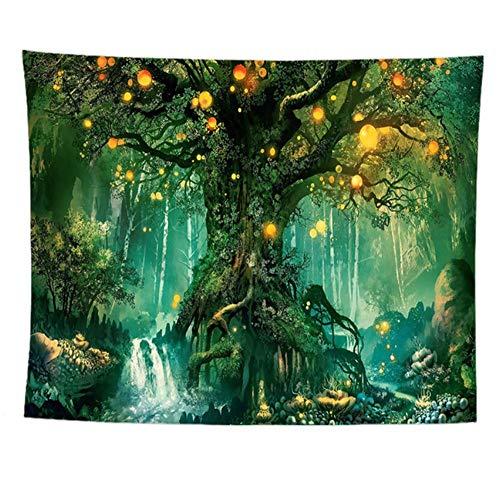 Wandteppiche,Árbol De La Vida,Tapiz De Tela Mandala De Manta,Decoración Del Dormitorio En EL Hogar,Alfombras De Exterior G 100X75Cm(39X30Inch)