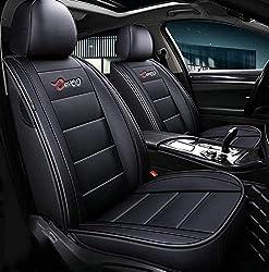SXLFDLL Autositzbezüge, 5-Sitzer-Komplettsatz Universal-Kompatible Airbags Vorne Und Hinten Atmungsaktiv Hochwertiges Leder Comfort Protector Cushion,A