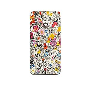 Mikzy Multicolour Flowers Pattern Printed Designer Back Cover Case for LeTv Le 1s