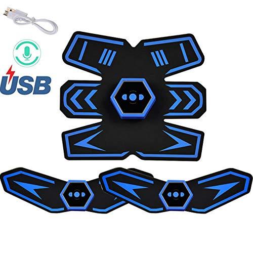 Futursd EMS Sofortiger elektrischer Ab-Stimulator Bester Bauchmuskeltrainer ABS-Tonergurt für Gewichtsverlust mit intelligenter Sprachsendung & USB-Aufladung