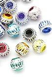 100pcs rond en aluminium mixte Perles Charms Bijoux Apprêt 9mm - 4