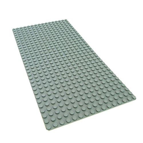 1 x Lego System Bau Platte hell grau flach 32 x 16 Noppen Beton Star Wars 3857 2748 - Lego Platte Bau Graue