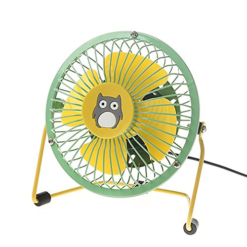YEARNLY USB & Wiederaufladbare Ventilator 4 Zoll Metall Tischventilator,tragbare Lüfter Desk Fan 2 Geschwindigkeiten, für Hause Büro usw.
