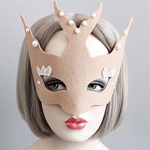 Maskerade Maske Halloween Weihnachten und Kostüm Party Maske Partei Tanzmaske männlichen und weiblichen Gemeinsame, Khaki