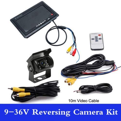 MASO IR LED Nachtsicht Rückfahrkamera Kamera + 17,8cm LCD Monitor Auto, Bus Kit 9-36V Mtx-monitor