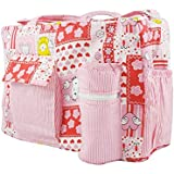 Kidzvilla New Born Baby Multipurpose Mother Bag With Holder Diaper Changing Multi Compartment For Baby Care And Maternity Handbag Messenger Bag Dipper Nappy Mama Shoulder Bag Diaper Storage Travelling Care Designer Multipurpose Mother Care Bag For Mama Blue