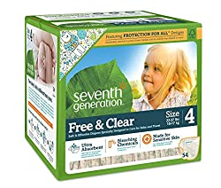 Seventh Generation Jumbo Baby Diapers Stage 4, 54 ct (10-17 Kgs)