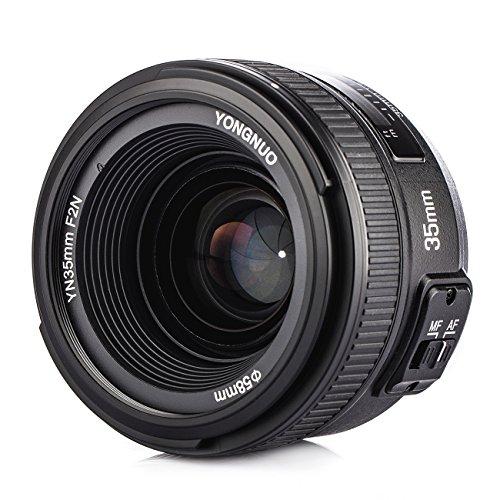 YONGNUO YN35 Obiettivo Grandangolare 35mm F2 Lunghezza Focale Fissa e Custodia Protettiva Tarion per Nikon DSLR