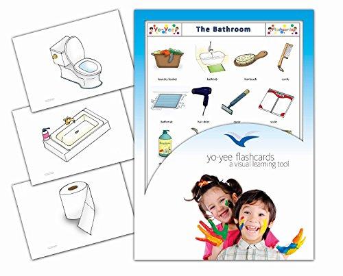 Bathroom and Body Care Flashcards - Badezimmer - Bildkarten in Englisch für Den Sprachunterricht