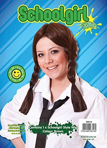 Imagen 1 de Brown Plaited Wig (peluca)