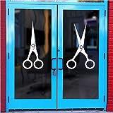 Hwhz 40X51 cm Salon Sticker Scissor Decal Hair Barber Shop Posters Vinyl Wall Art Decals Hair Cut Parede Decor Decoration Mural Salon Sticker