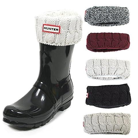Hunter Women's Original Short 6 Stitch Cable Wellington Boot Sock-Dulse-Medium
