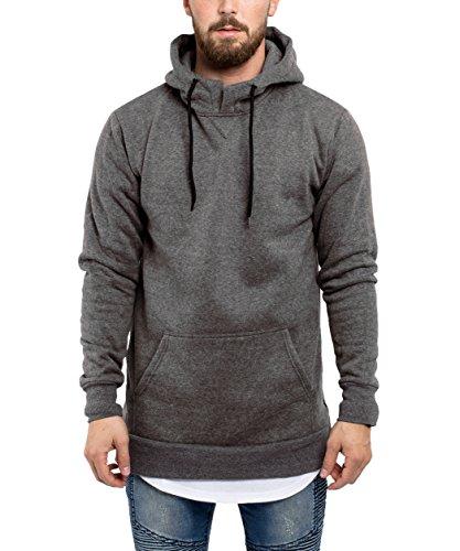 Phoenix Side Zip Hoodie Herren Langer Pullover Mit Reißverschluss Grau