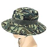 Winkey 2018nuovo pescatore cappello, berretto camouflage Boonie cappelli nepalese regolabile esercito mens pescatore cappello Outdoor Sun protezione caccia cappello di maglia, D, regolabile