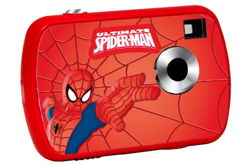 Spider-Man - Cámara Digital de 1.3 MP , Color Rojo / Azul (Lexibook DJ018SP)