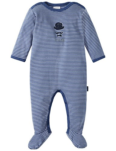Schiesser Baby-Jungen Zweiteiliger Schlafanzug Zirkus Strong Boy Anzug mit Fuß Blau (Blau 800), 62 (Herstellergröße: 062)