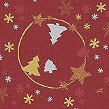 Duni 180720 Season's Joy Weihnachtsservietten, 3-lagig, 33 x 33 cm, Rot, 500 Stück (10 Packungen mit je 50 Stück)